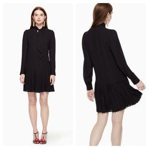 ♠️Kate Spade♠️ Pleated Georgette Dress, Black